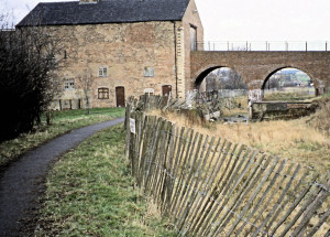 Moira Furnace, 1993, showing the unrestored Ashby canal