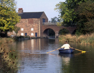 Moira Furnace showing the restored section of the Ashby Canal