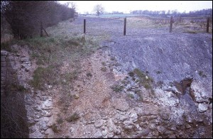 Site of aqueduct over Gilwiskaw Brook, May 1971.